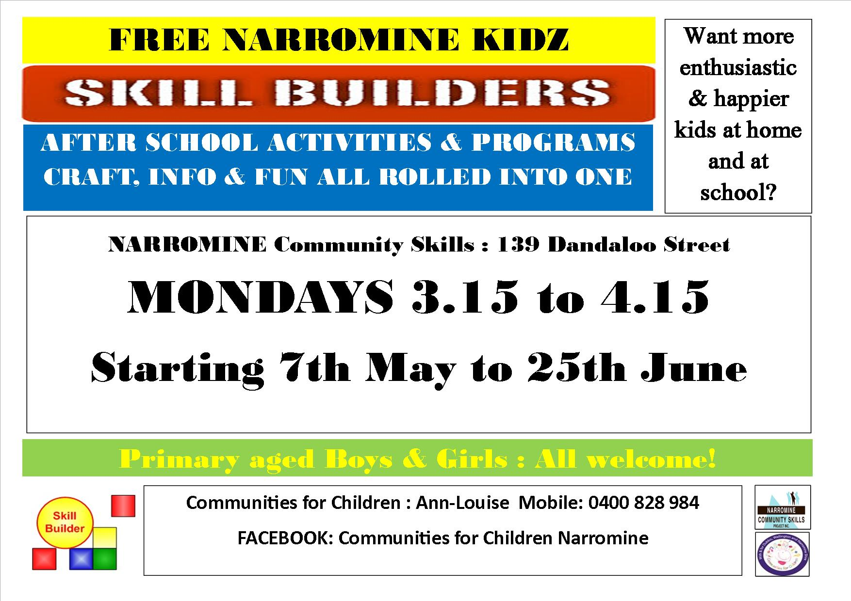 Skill Builders Free Afternoon Programs by Communities for Children