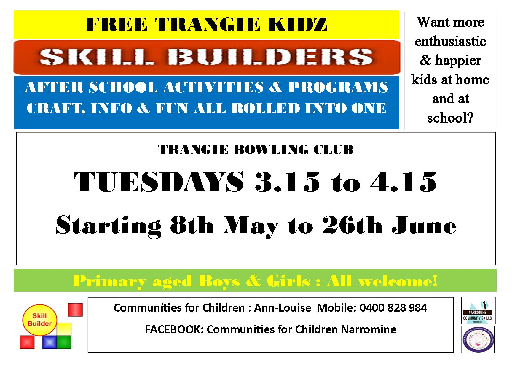 Trangie Kidz Skill Builders Afternoon Activities by Communities for Children