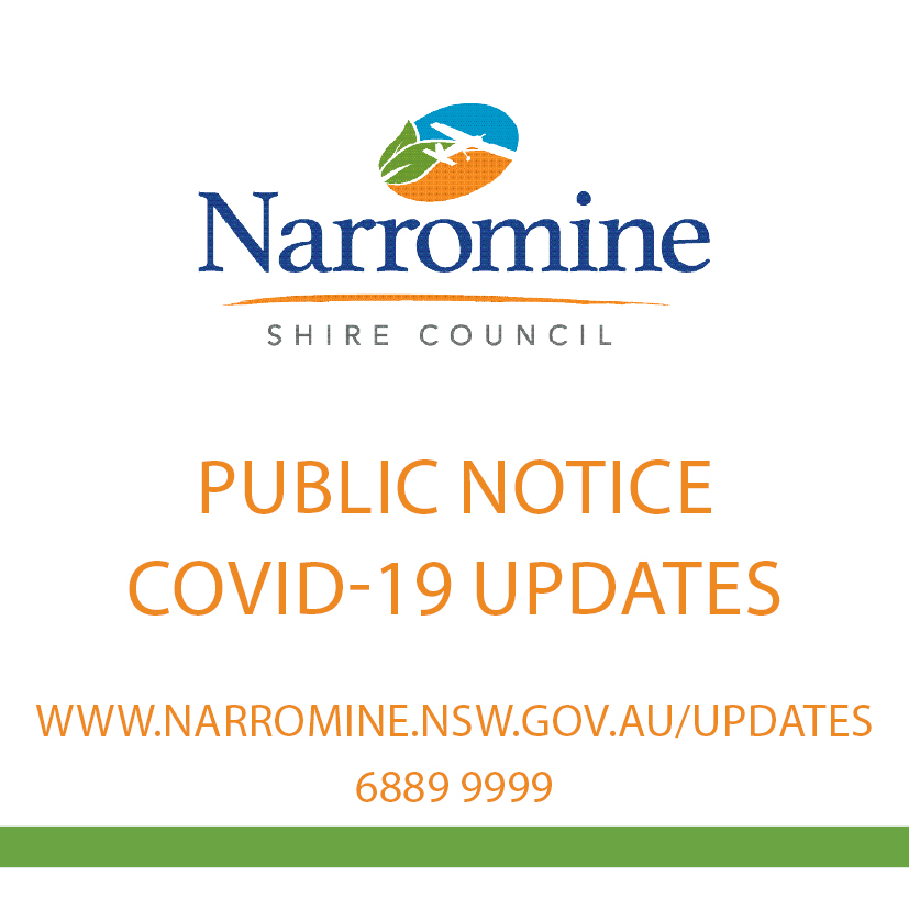 Narromine Shire Council update for COVID-19