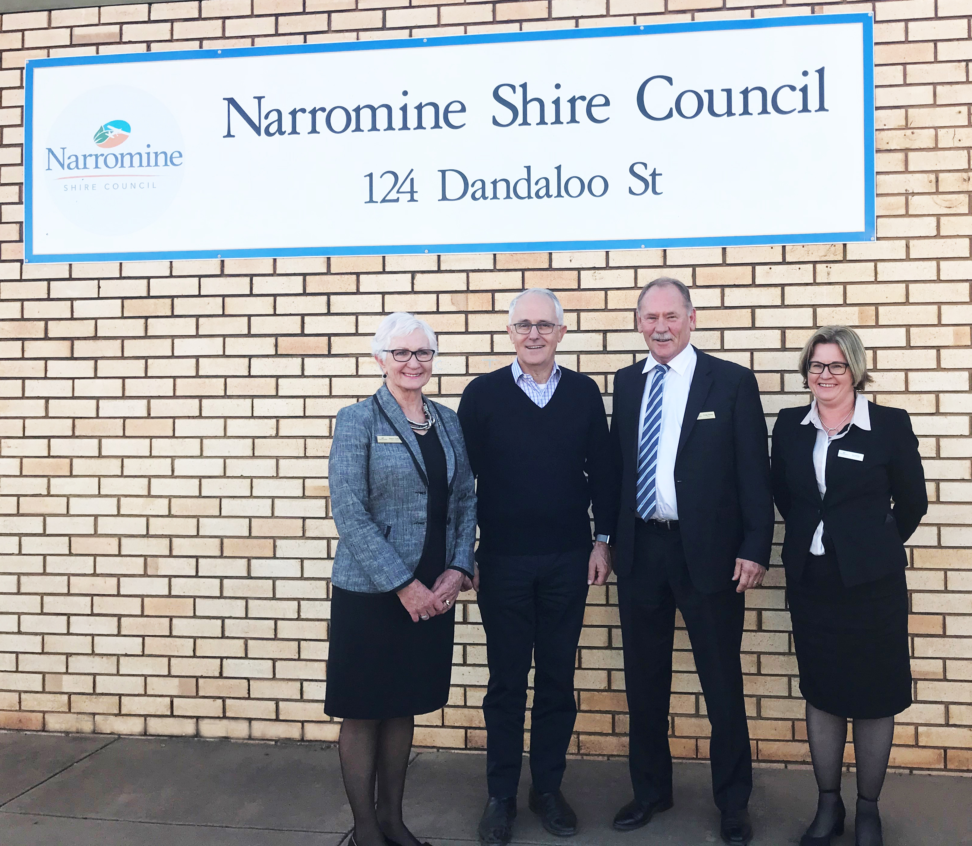 Prime Minister Malcolm Turnbull visits the Narromine Shire