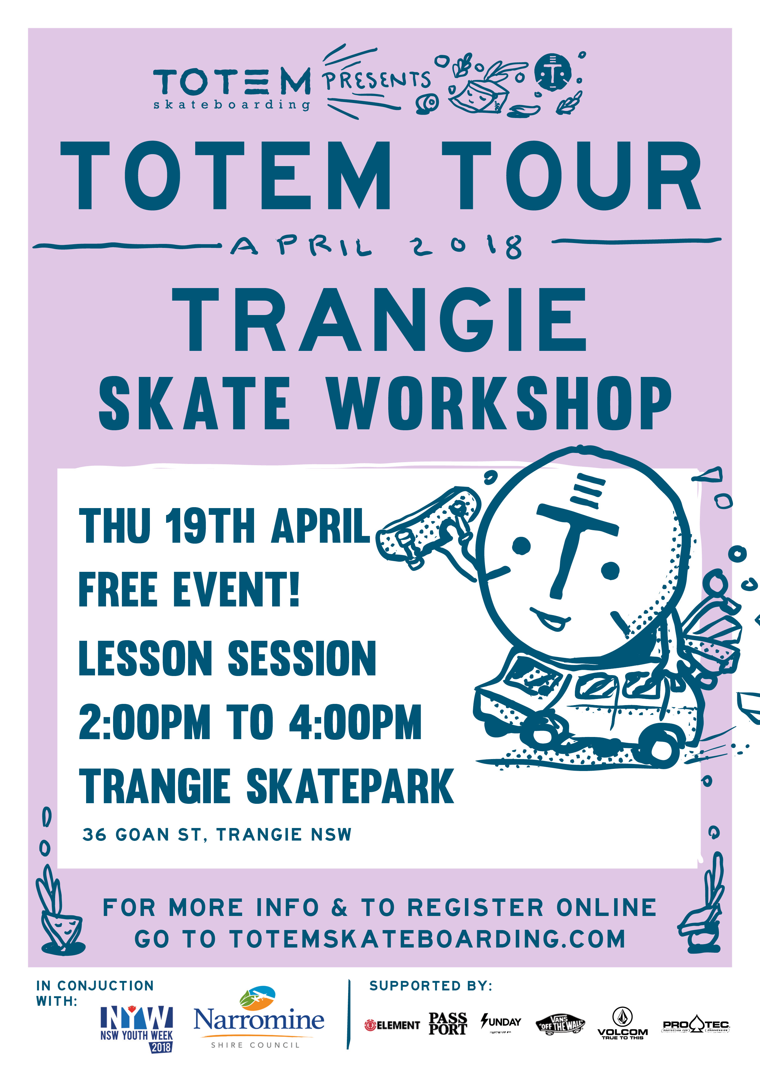 Trangie Skate Workshop - Totem Tour